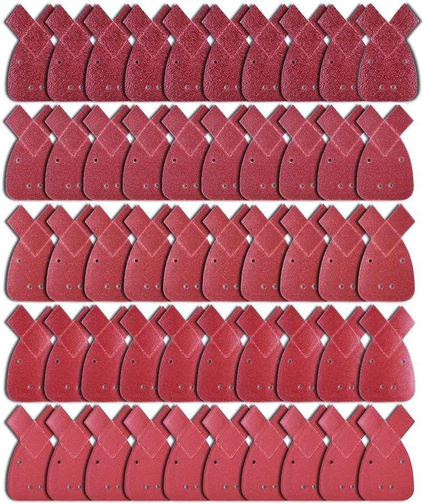 50tlg Schleifblätter 40-240 Körnung Für Black/&Decker Mouse Sander Schleifpapier