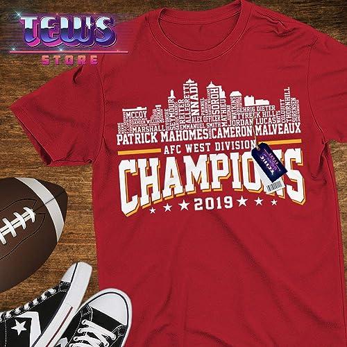 Blend Hoodie Sweatshirt Tank-Top Premium Short-Sleeve Shirt Long-Sleeve 2019 AFC Football West Champs Kansas City Shirt Customized Handmade T-Shirt