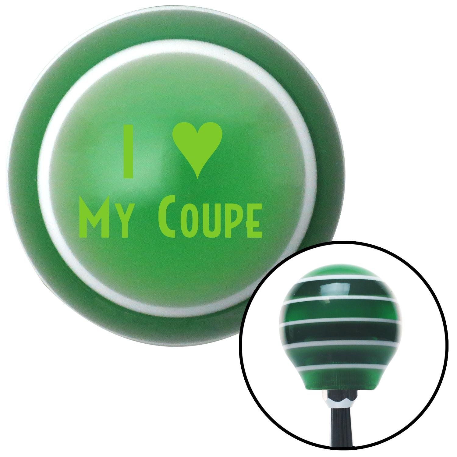 American Shifter 123687 Green Stripe Shift Knob with M16 x 1.5 Insert Green I 3 My Coupe