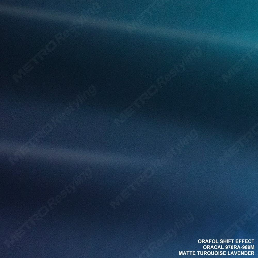 ORACAL 970RA-989 GLOSS TURQUOISE LAVENDER Vinyl Vehicle Orafol Car Wrap Trim