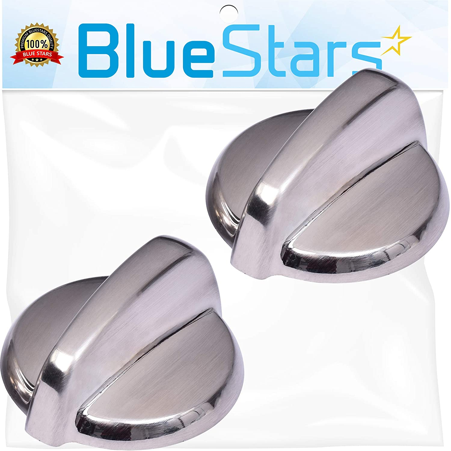 Ultra Durable WB03T10325 Range METAL Knob Replacement Part by Blue Stars – Exact Fit For General Electric Ranges - Replaces AP5690210, PS3510510 - PACK OF 2