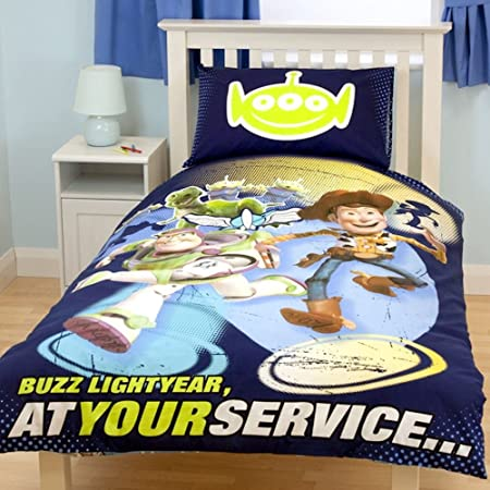 Toy Story Movie Space Woody Buzz Reversible Single Duvet Quilt Cover