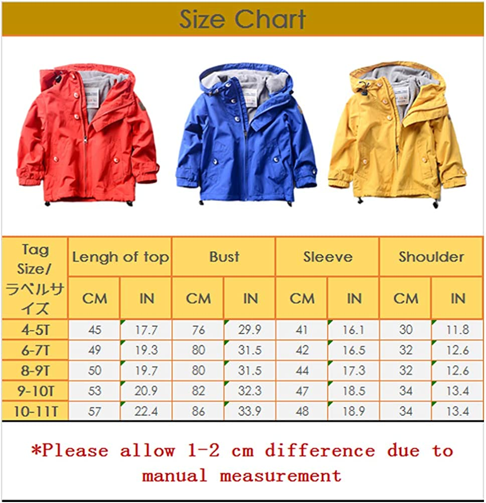 ARAUS Baby Infant Girls Boys Lightweight Long Sleeve Hooded Trench Jacket Coat