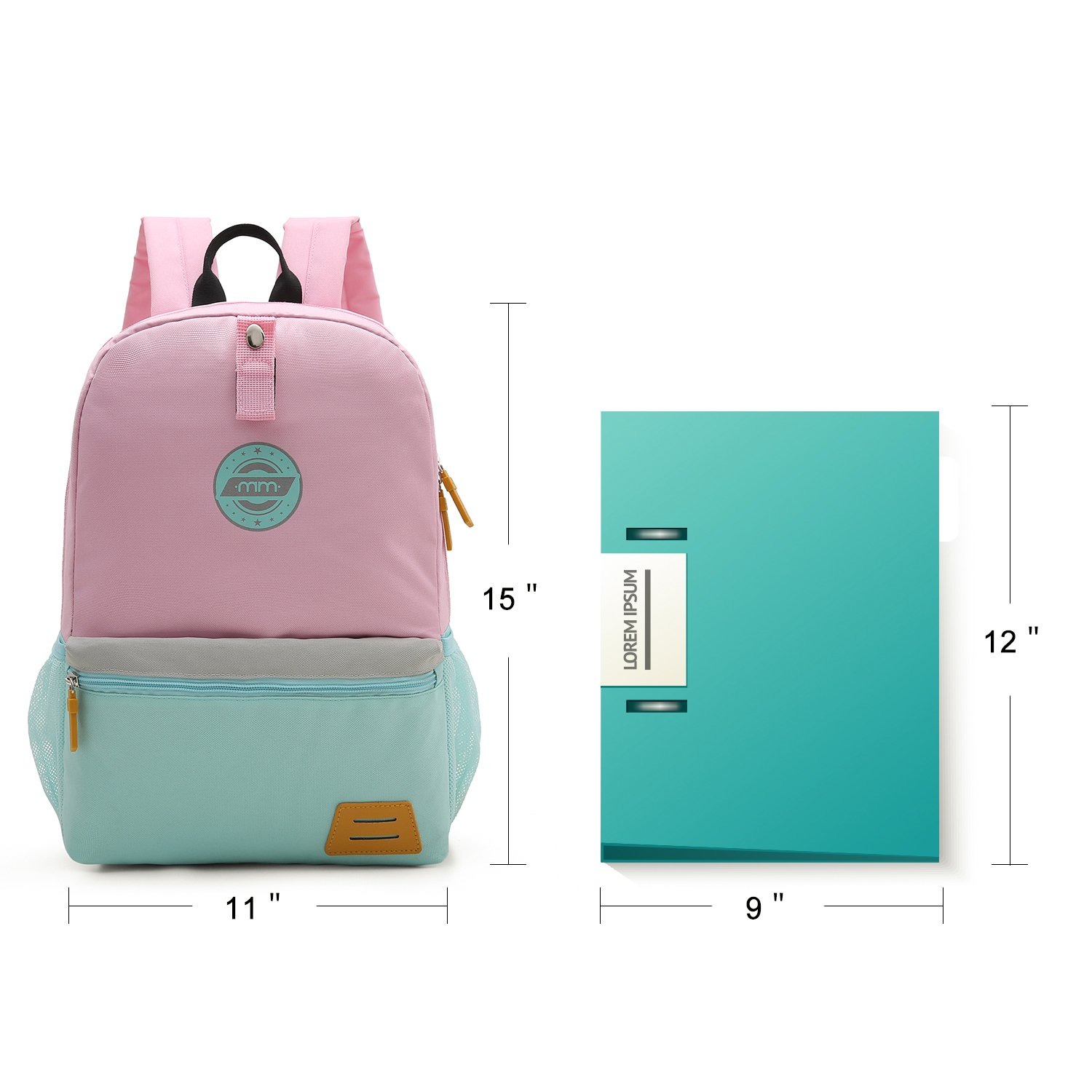 mommore Different Size Kids Backpack for Toddler Kindergarten School with  Chest Clip Hiking Bag 3- b35dc0049f3ed