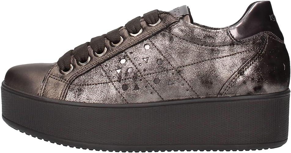 IGI&CO 4152222 Sneakers Scarpe Zeppa Alta Donna Pelle