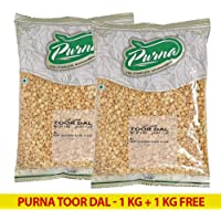 Purna Toor Dal - 1 kg (Pack of 2)