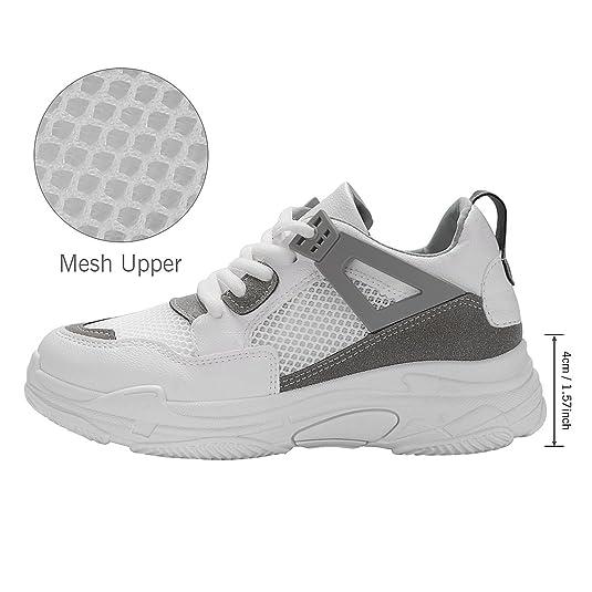 fb648e93ebd4d Kivors Femme Basket Mode Chaussure de Sport Course Fitness Sport Basses  Sneakers Chaussure Air Taille 36-40  Amazon.fr  Chaussures et Sacs