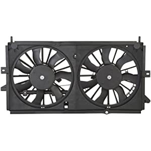 Dual Radiator and Condenser Fan Assembly - Cooling Direct Fit/For 22137318 02-05 Buick Century 02-04 Regal 3.1/3.8L