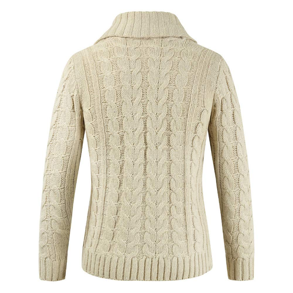 Fashion G-Real Mens Casual Slim Fit Cardigan Sweater Cable Knitted Button  Down Stand Collar cc9f2afba