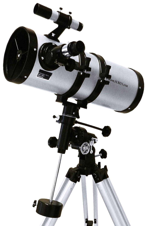 Seben 900-76 EQ2 Telescopio riflettore + Adattatore Universale Smartphone Cellulare DKA5 tls_900-76_dka5