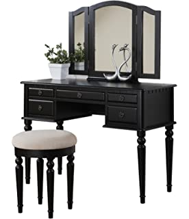 vanity set with mirror lights. Bobkona F4072 St  Croix Collection Vanity Set with Stool Black Amazon com LED Mirror Lights Kit for Makeup Dressing Table