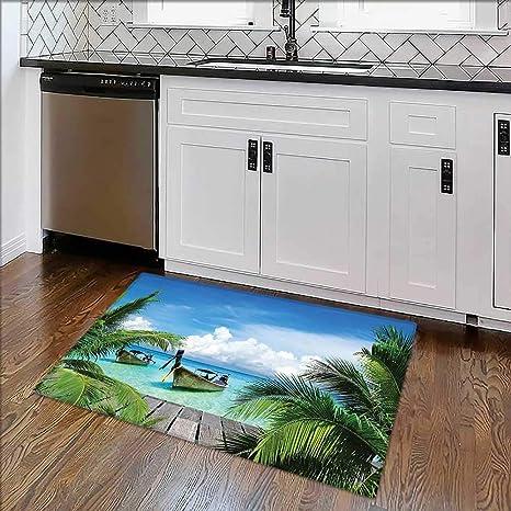 Amazon Com Indoor Outdoor Rug Collection Beach Tropical Sea Wooden