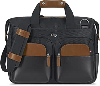 SOLO Hamptons 15.6 inch Briefcase, (Black), (EXE340-4)