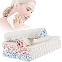 MWOOT 20 Piezas Toalla Desmaquillante de Algodón Reutilizable, 30x30cm Toallas para Lavarse La Cara para Limpieza Diaria de La Cara