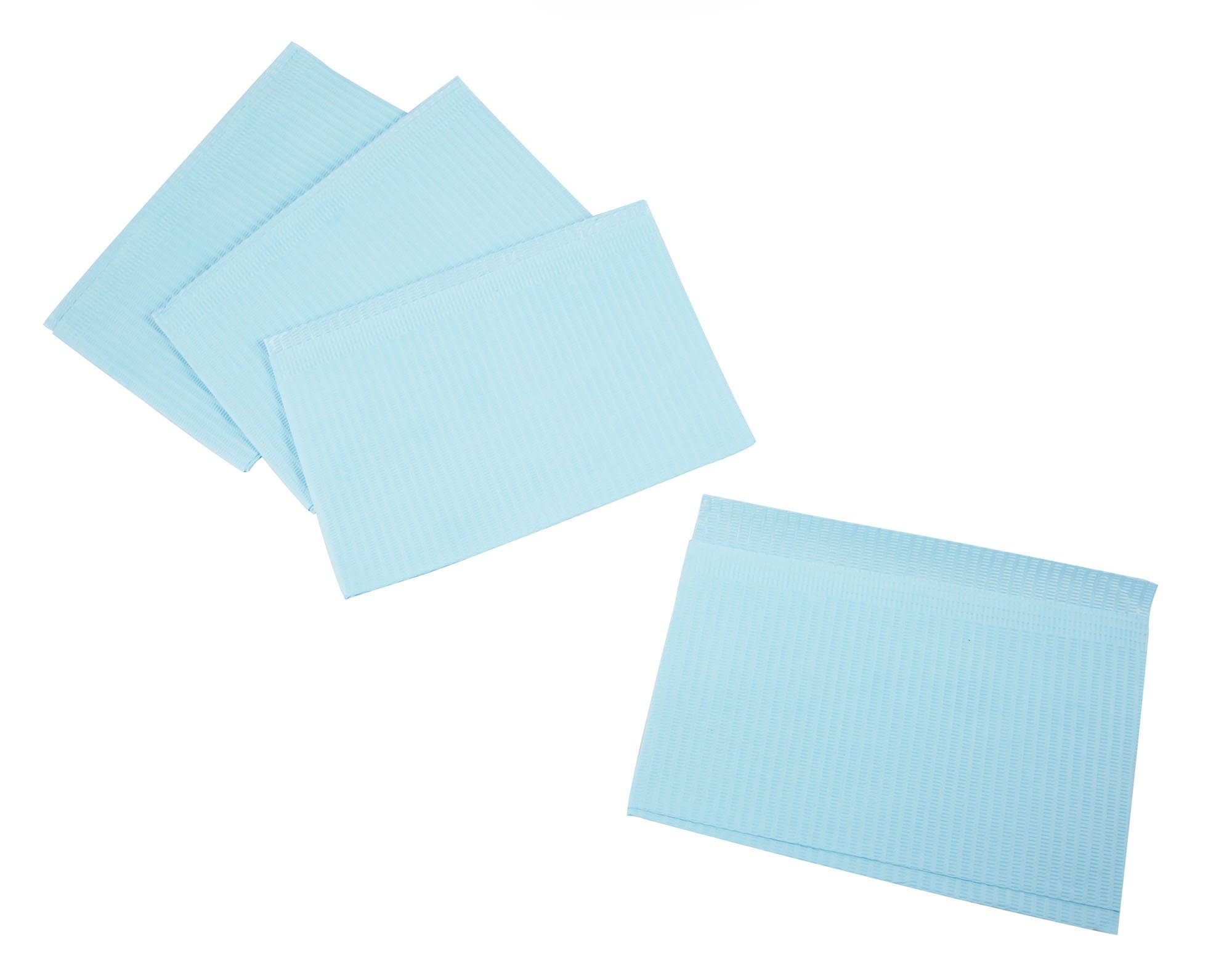 Primo Dental Products PBBL Patient Bib, 2-ply with Poly, 13'' x 18'', Blue (Pack of 500)