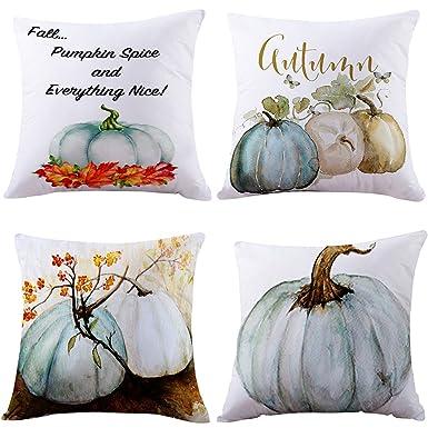 Logobeing Funda Cojines 4PCS Cojines Thanksgiving Decoración ...