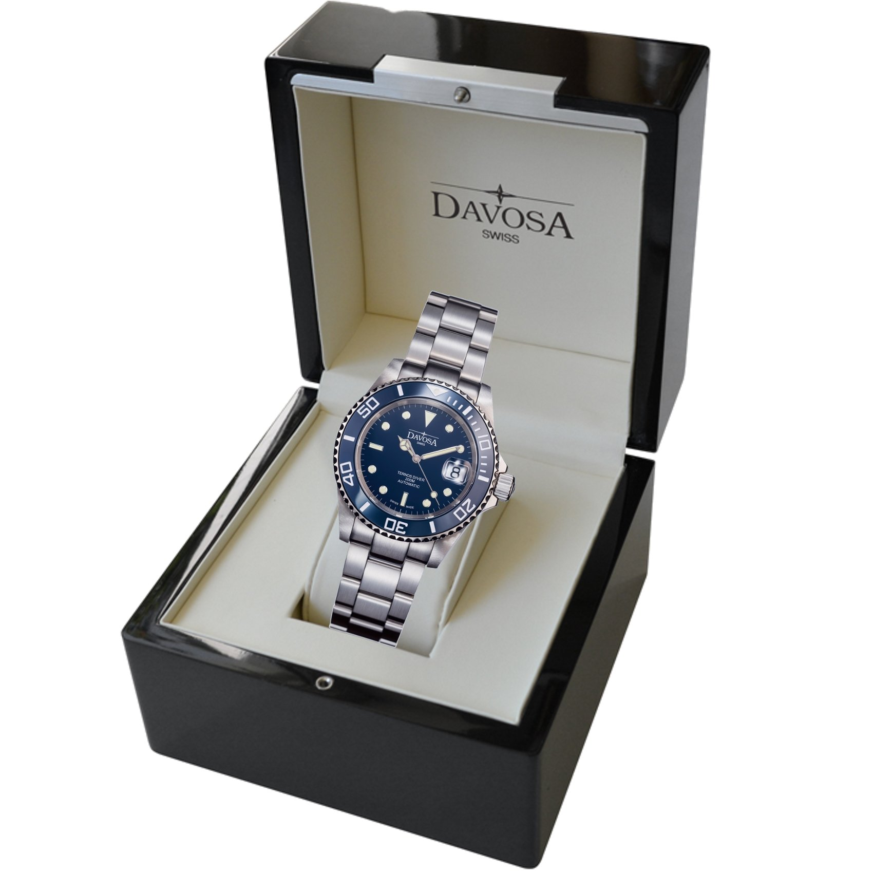 Davosa Swiss Made Men Wrist Watch, Ternos Ceramic 16155540 Professional Automatic Analog Display & Luxury Bezel by Davosa (Image #7)