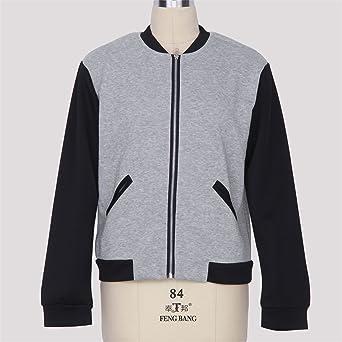 Amazon.com: Eault Elegant 2016 Bomber Jacket Women Coat Chaquetas Casaco Feminino Jaqueta Baseball Veste Femme Abrigos Invierno Baseball Jackets GrayXL ...