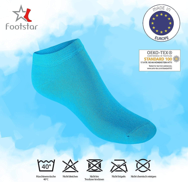Kurze Socken f/ür M/ädchen /& Jungen 10 Paar Sneak It! Footstar Kinder Sneaker Socken