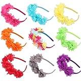 Candygirl(TM))) Flower Crown Headband Wedding Festival Parties Floral Hairband