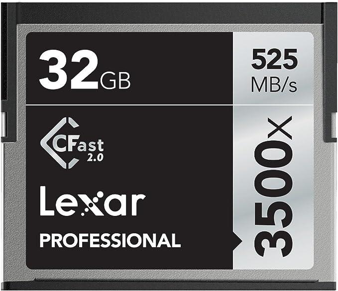 TALLA 32 GB. Lexar 32GB 3500x Pro CFast Compact Flash Card - LC32GCRBEU3500