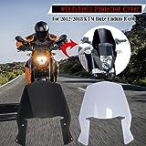 FATExpress Windshield for 2012-2018 KTM Duke Enduro R 690 Motorcycle Windscreen Wind Shield Screen Protector Cover 2013 2014 2015 2016 2017 12-18