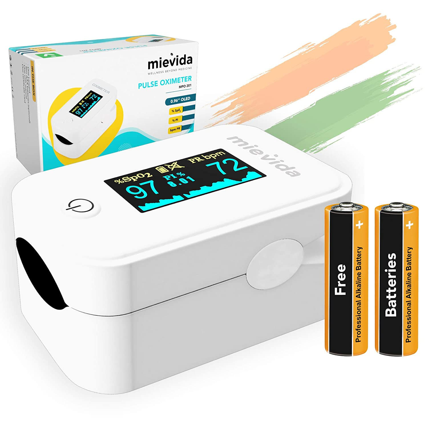 Finger Tip Pulse Oximeter (FDA & CE Approved) with OLED Display