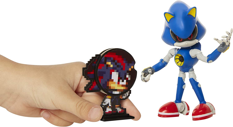 Sonic The Hedgehog Collectible Metal Sonic 4 Bendable Flexible Action Figure wi