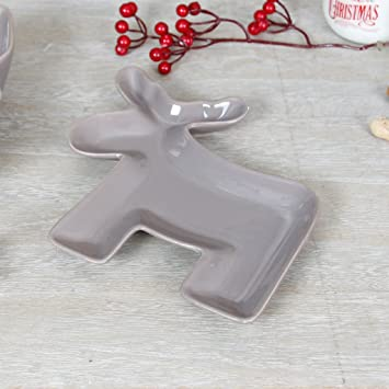 Luxus Keramik taupe Festive Weihnachten Auflaufform – Hohe Qualität ...