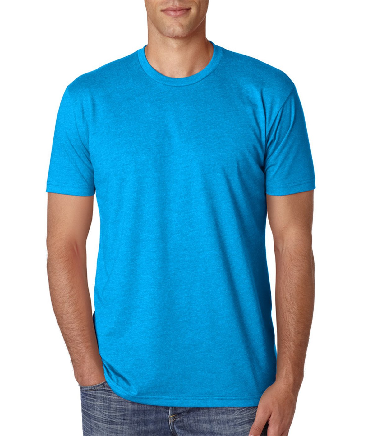 Next Level Apparel メンズ CVC クルーネック ジャージ Tシャツ B07D1C917P X-Large|Black + Turquoise (2 Pack) Black + Turquoise (2 Pack) X-Large