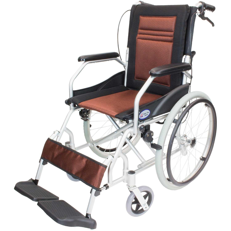ケアテックジャパン 軽量 自走式アルミ製車椅子 CA-12SU ハピネスライト (ブラウン) B01N259LJS ブラウン ブラウン