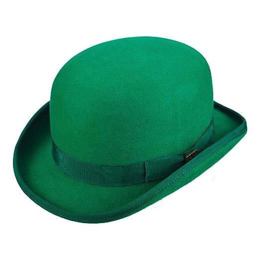 b8436e621e2 Scala Low Crown Wool Felt Satin Lined Derby Hat