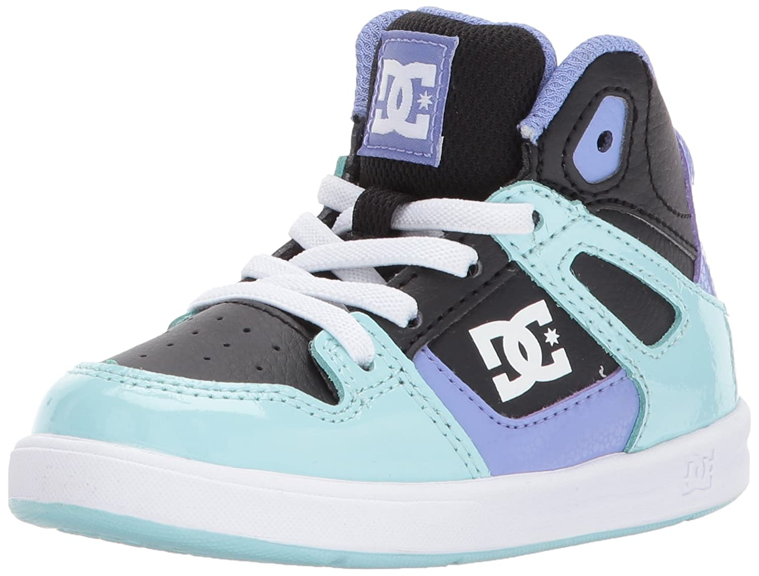 DC Youth Rebound Skate Shoes B01MQWBKD9 2.5 M US Little Kid|Black/Multi