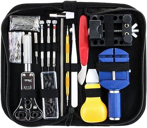 Sopoby - Profesional Kit de herramientas de reparación de reloj ...
