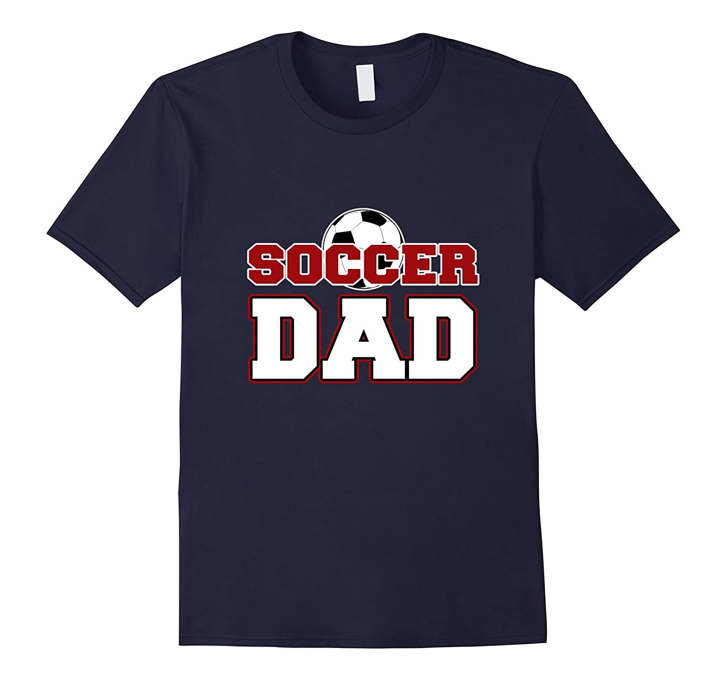 Mens Soccer Dad Football graphic T-Shirt for Men-TH