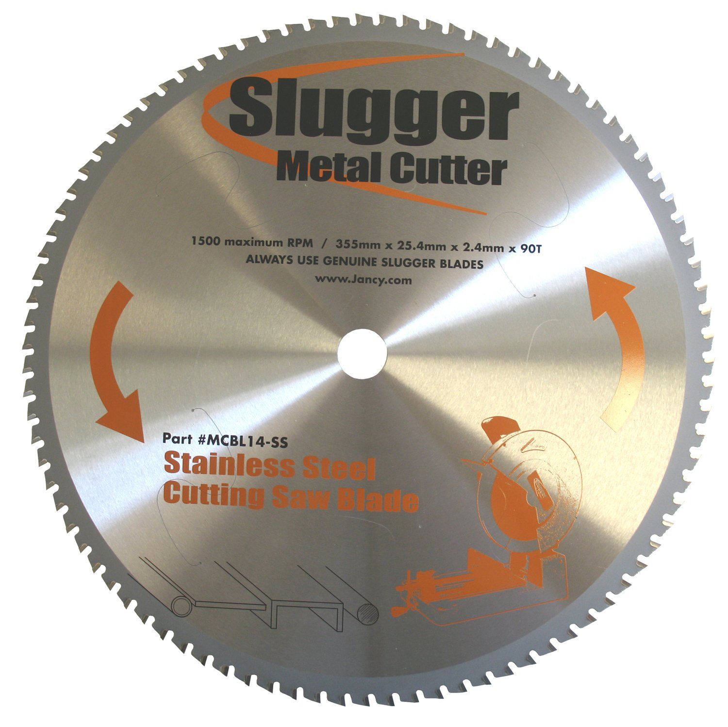 Jancy Slugger MCB14-SS Stainless Steel Cutting Saw Blade, 14'' Diameter, 90 Teeth