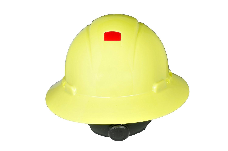 3M Full Brim Hard Hat H-801R-UV Uvicator 4-Point Ratchet Suspension White