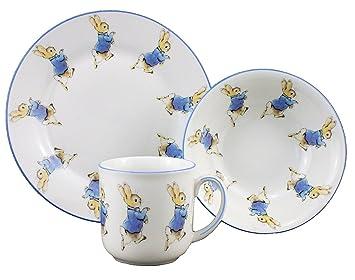 Image Unavailable  sc 1 st  Amazon.com & Amazon.com | Peter Rabbit - 3 Piece Porcelain Dining Set - Mug ...