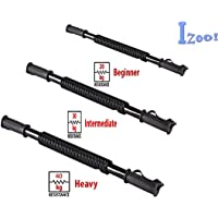 Izoo® Power Twister Bar [20kg, 30kg, 40kg] | Flexi Rod, Super Heavy Duty Spring | Best for Shoulder, Forearm, Arms and Chest Exercises, Upper Body Strengthening Weight Training | Arm Trainer And Chest Builder Device | Flexible Arm Strength Rod Chest Shoulder Resistance Spring Exerciser Wrist Hand Gripper and Curl Spring Bar | Perfect for body builders.