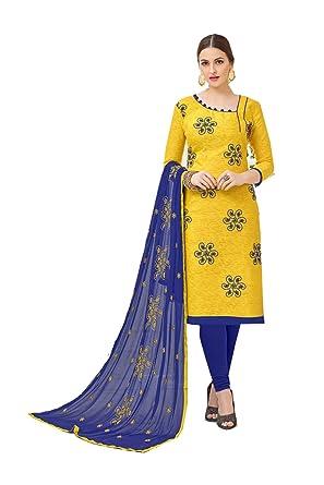 a21efbc3e2 The Indian Fashions Indian Women Designer Partywear Ethnic Traditonal Yellow  Salwar Kameez: Amazon.co.uk: Clothing