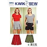 Kwik Sew K3854 Shorts Sewing Pattern, Size XS-S-M-L-XL