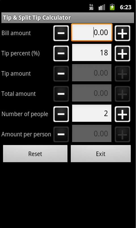 amazon com tip split tip calculator appstore for android