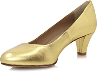 84c9448232a1 Diamond Heels Gold Metallic Pumps