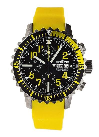 Reloj de Pulsera Fortis B-42 Marinemaster con cronógrafo Amarillo con Fecha analógica automática 671.24