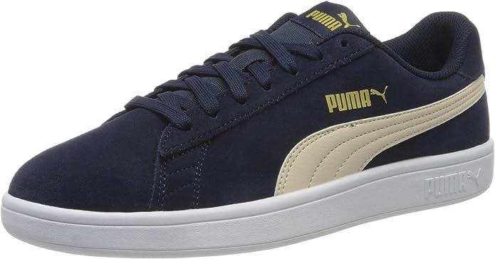 Puma Smash V2 Sneakers Unisex Damen Herren Blau Peacoat