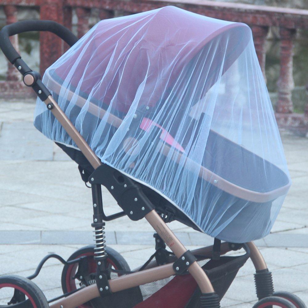 cosy et lit parapluie de toutes marques pour bebe enfant Protection anti-insectes anti moustiques Moustiquaire universelle pour pour landau poussette nacelle couffin Rose Grande Taille