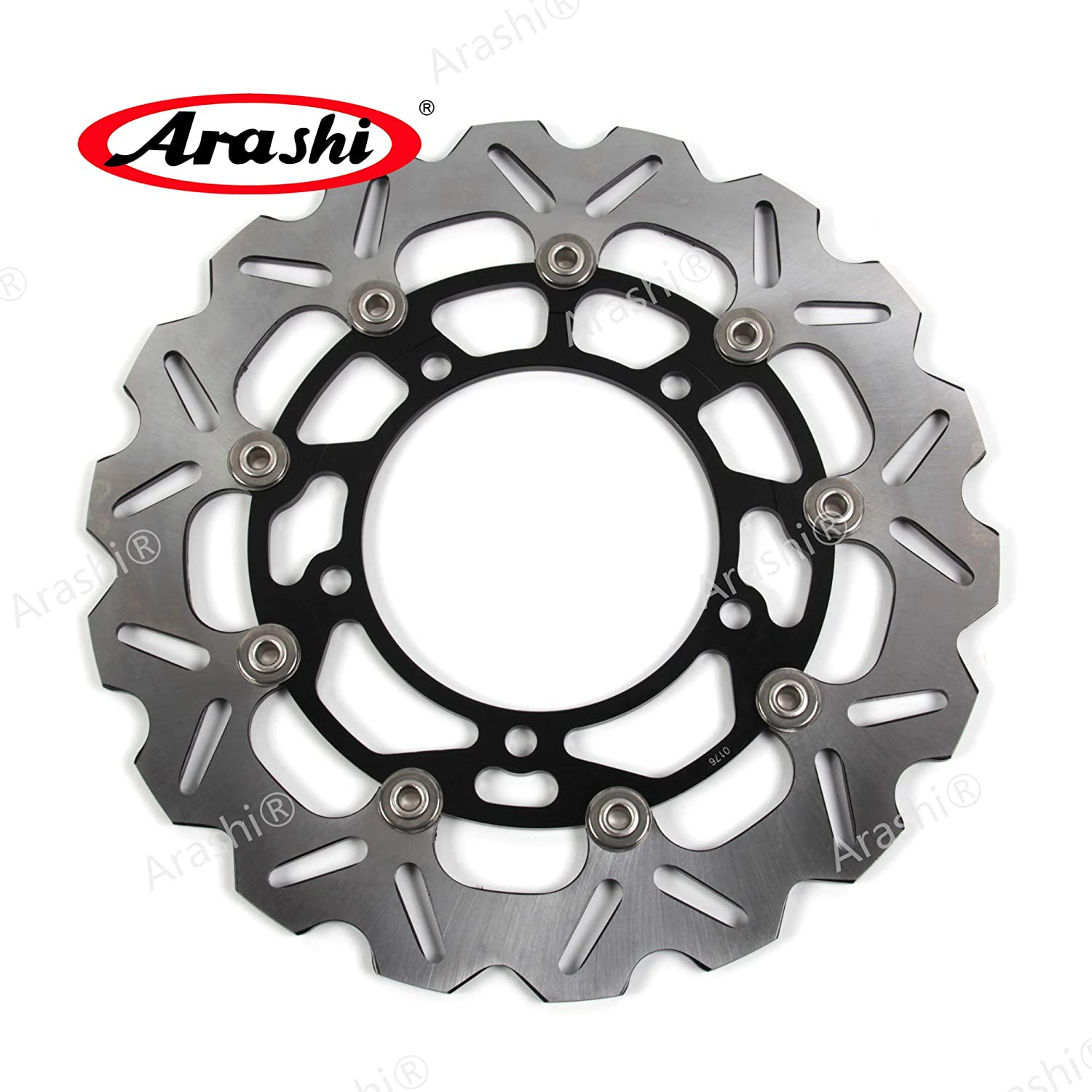 Arashi Brake Disc Rotors Front and Rear for Suzuki Hayabusa GSXR 1300 2008-2019 ABS 13-19 B-KING 1300 2008-2010 Motorcycle Replacement Accessories GSX1300R GSX-R1300 Black