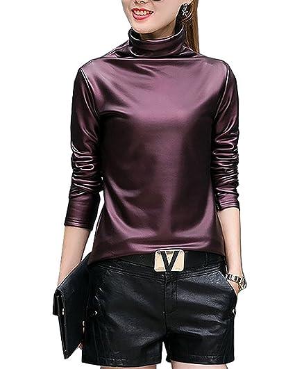 c4ec3db671b Plus size 4XL t-shirts women harajuku sexy long sleeve Turtleneck velvet t  shirt female