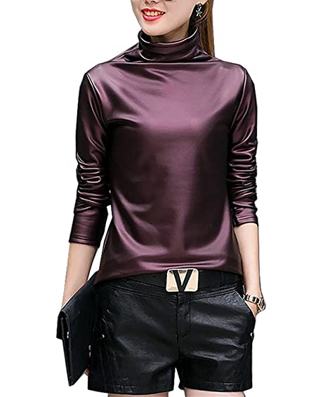 Plus size 4XL t-shirts women harajuku sexy long sleeve Turtleneck velvet t shirt female