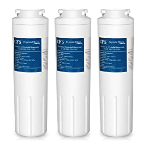 UKF8001 Water Filter, Compatible with Refrigerator Water Filter Whirlpool 4396395, Filter 4, Maytag UKF8001, EDR4RXD1, Jenn-Air, PUR, UKF8001AXX, UKF8001P, Puriclean II, 469006, by Crystala Filters